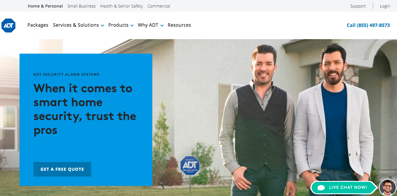 ADT main page