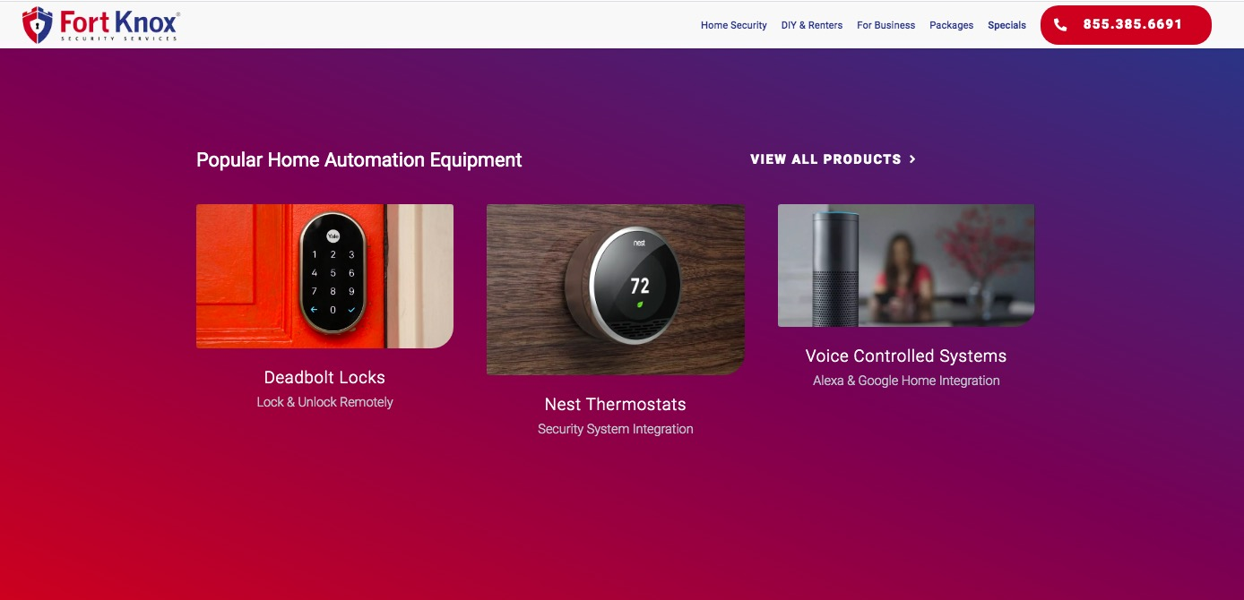 fort knox security home automation equipment