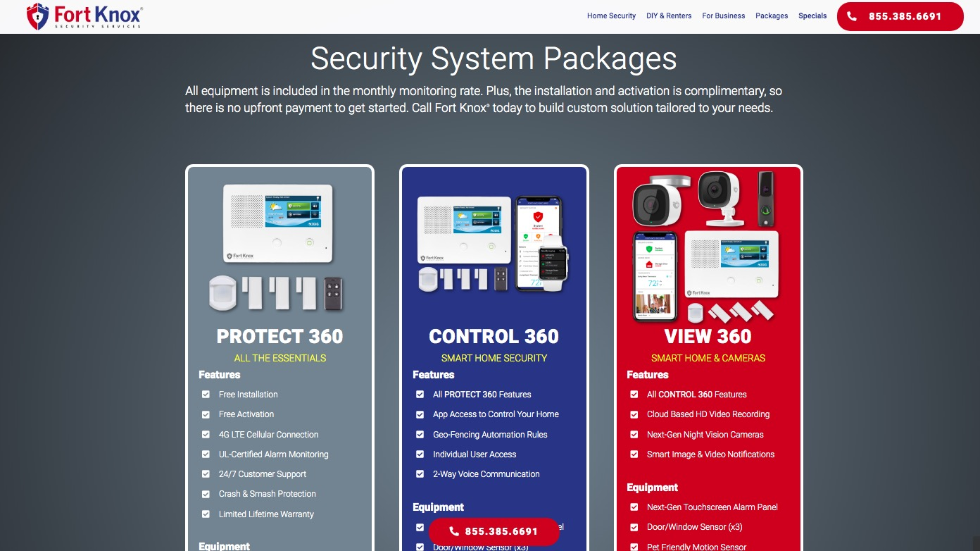 fort knox security system Packages