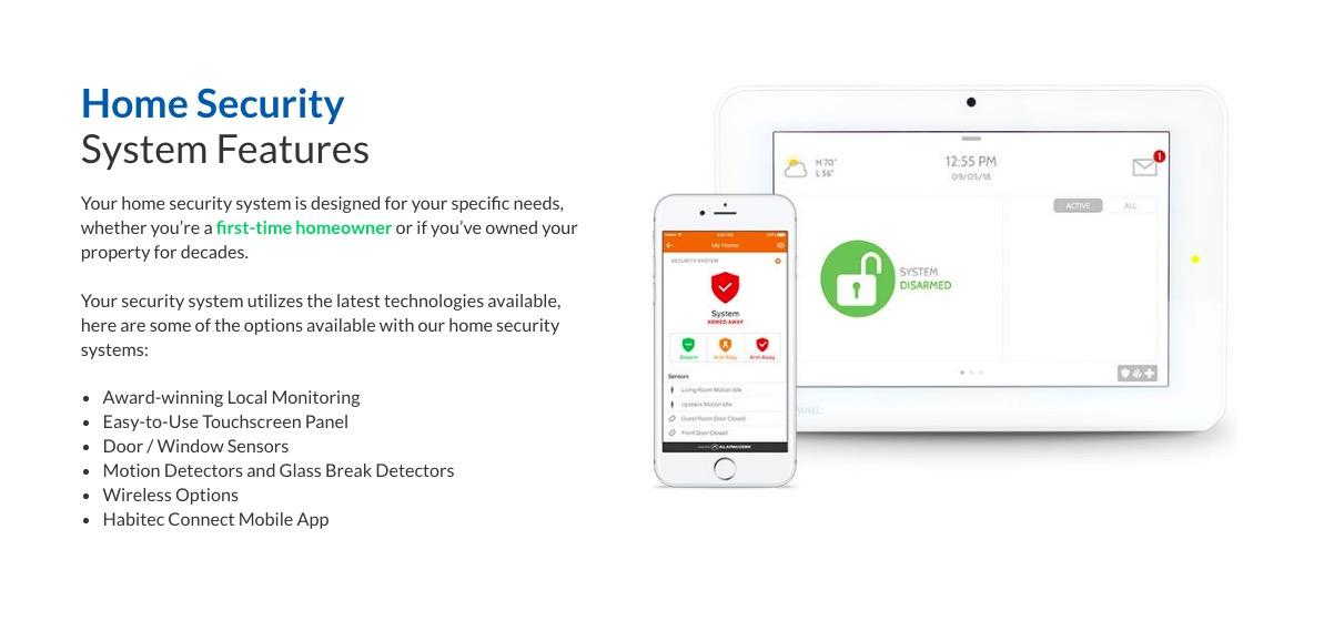habitec security system features