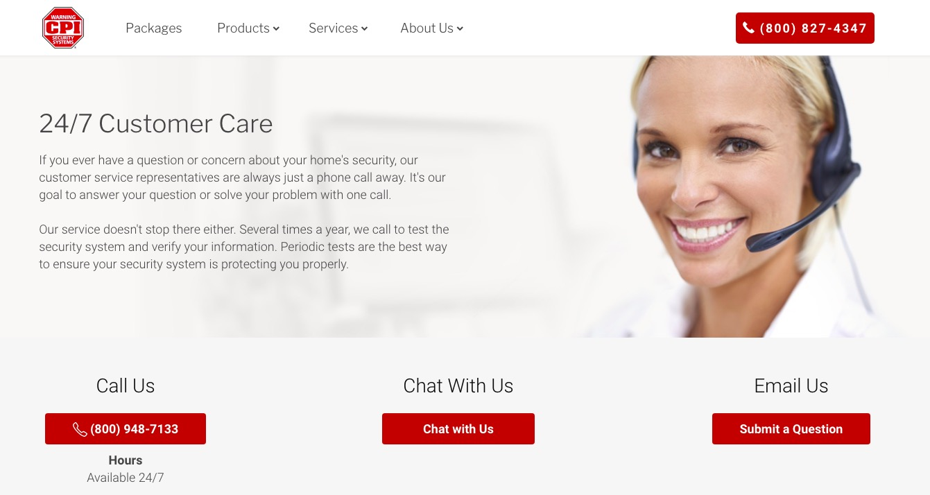 CPI Security customer support